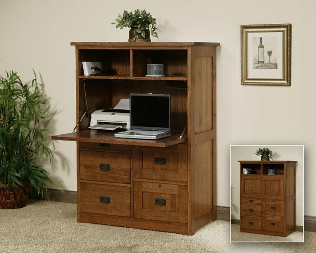 Office Armoire solid oak furniture portland
