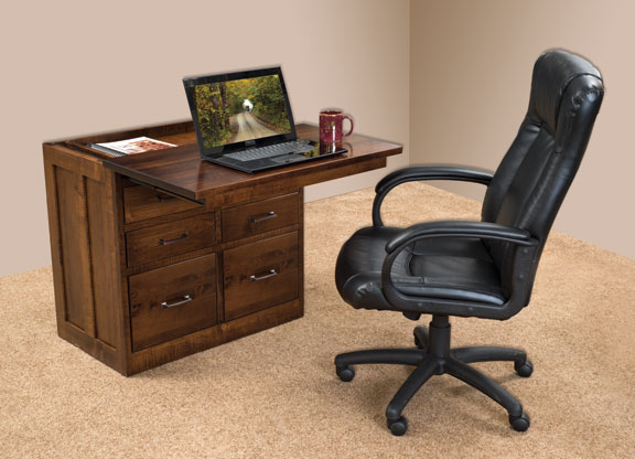 Pull out desk space saver