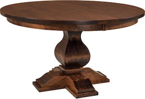 """Amish dining table USA solid cherrywood with leaves 54"""""""