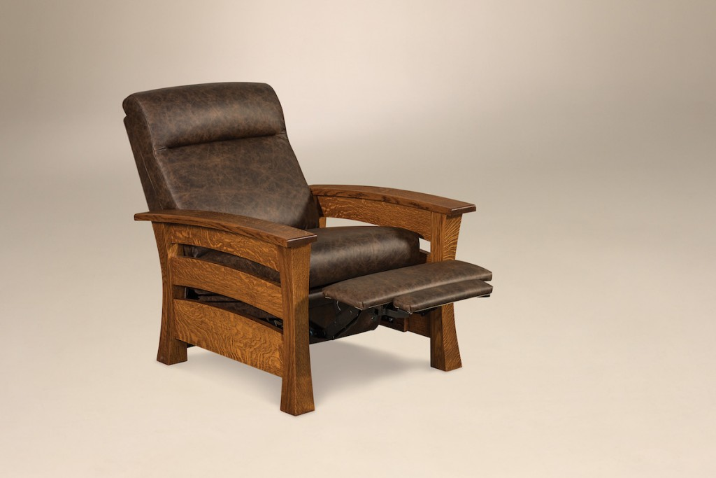 Amish connection made traditions Morris Chair USA Furniture Leather