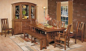 Dining and hutch amish set