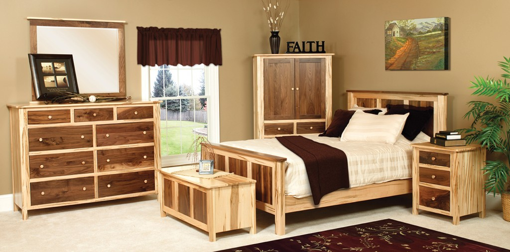 USA Made walnut maple bedroom set