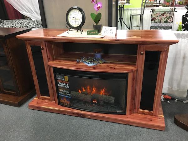 Amish Custom fireplace entertainment center