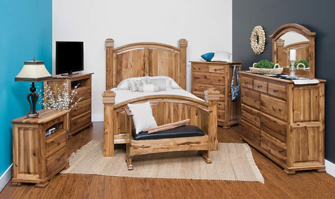 American Furniture Hickory Amish Bedroom