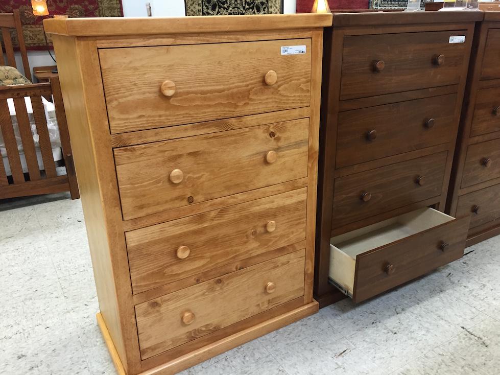 Pine Chest 4 drawer