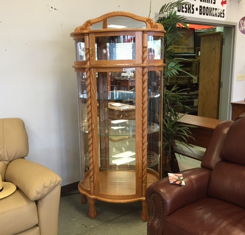 Amish Bow Front Curio