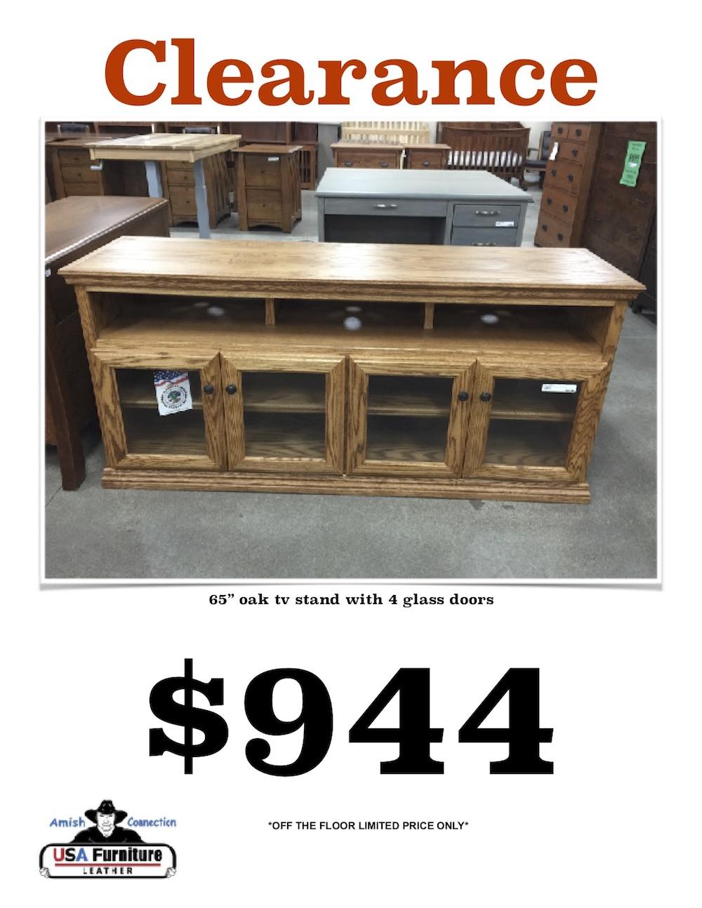 """656"""" TV Cart with 4 doors USA Made"""
