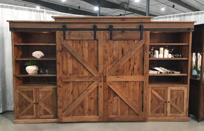 Amish Rustic Wall Entertainment USA Furniture Oregon