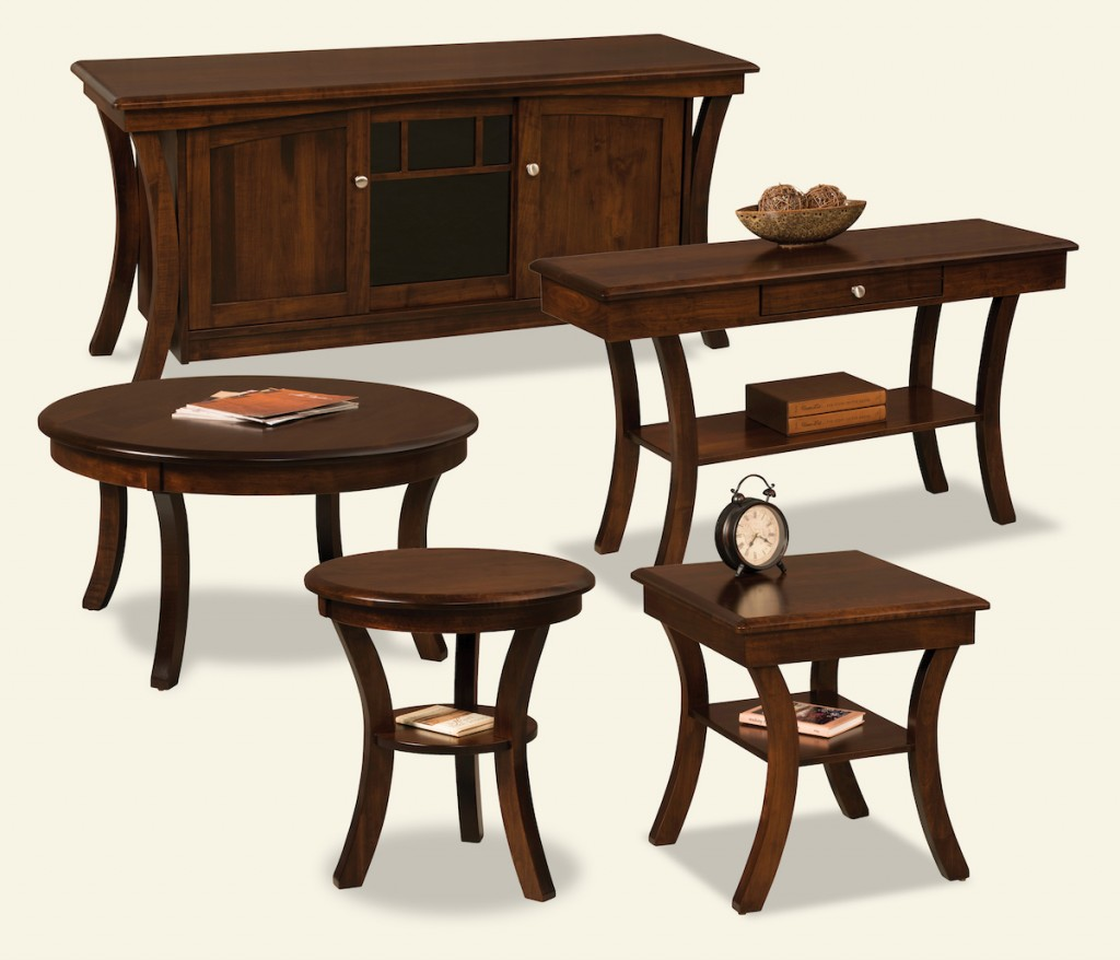 Siea Colection Amish Living, Coffee, round end, sofa tables, entertainment and tv carts