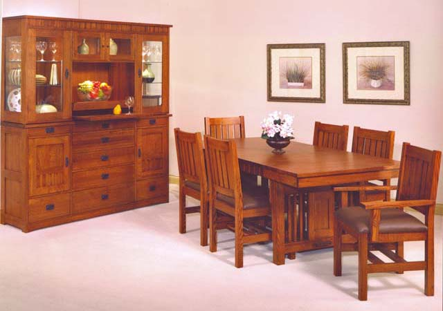 Trend Manor Mission Dining table and chairs USA Made