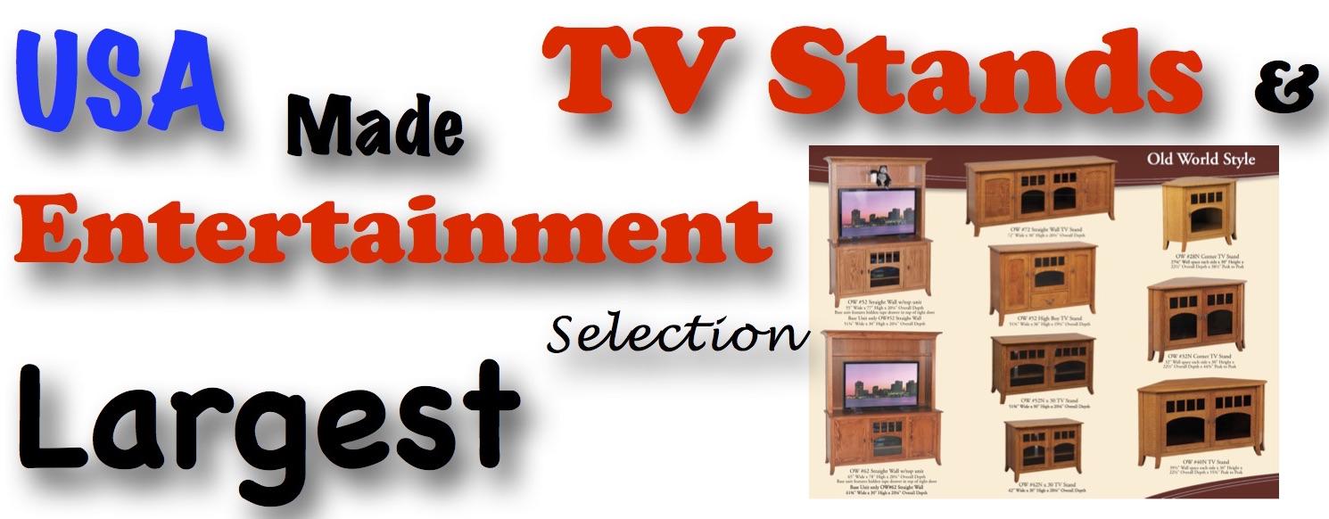 TV Entertainment Centers Amish USA Built