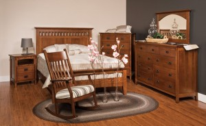 Amish Craftsman Bedroom Mission Portland Furniture Rocking Chair
