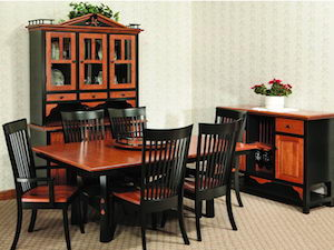 two tone AMISH table set