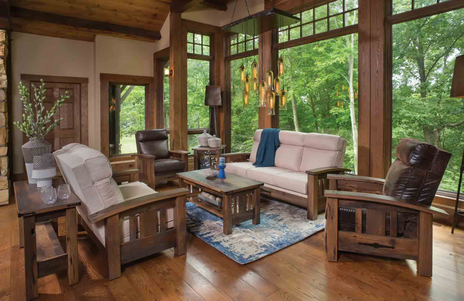 Amish Rustic Sofa Chair Love