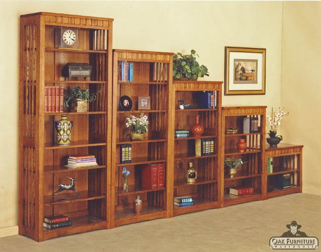 Mission Bookcase Solid Oak Portland Furniture