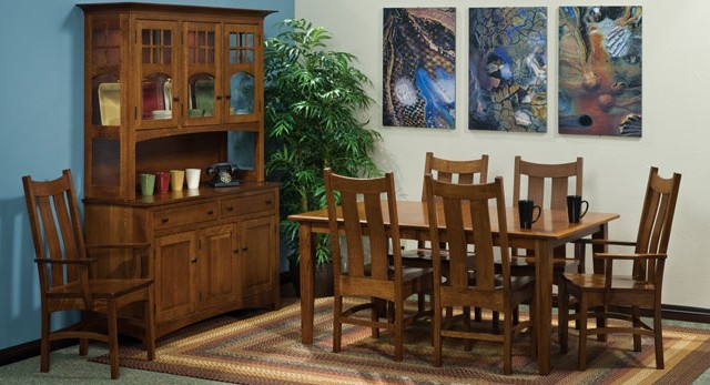 Amish Dining Mission Furniture Chairs Table