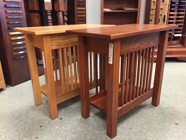 Amish End Table Usa Furntiure Leather Your Amish