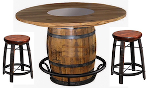 Barrell delux dining set from the Amish furniture USA