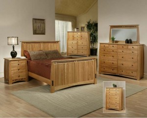 Solid Cherry wood Bedroom Trend Manor Amish