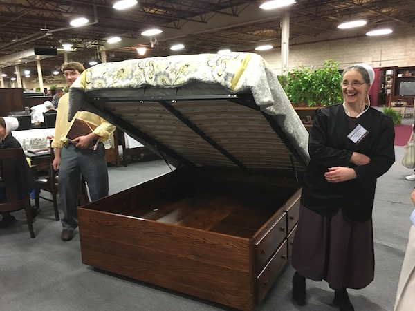 Custom Lift top bed Amish Made