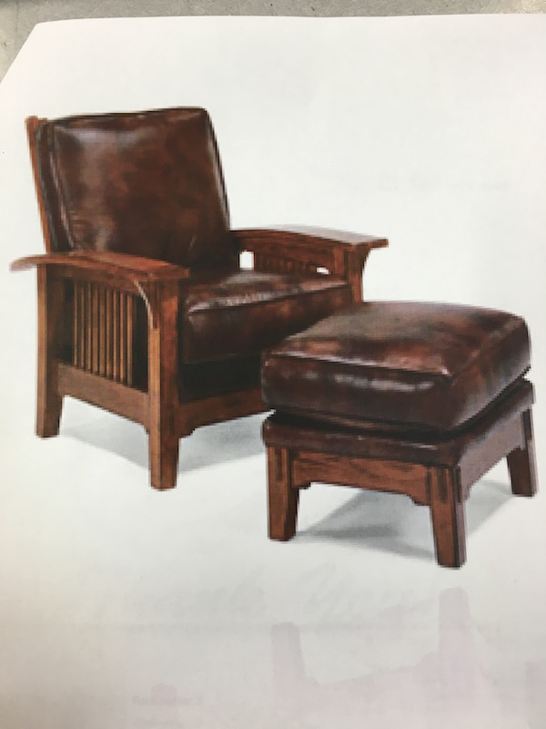 Amish leather chair ottoman