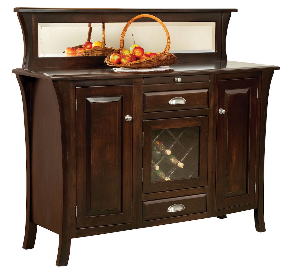 Amish Buffett Hard Rock Maple side board stylish dining storage