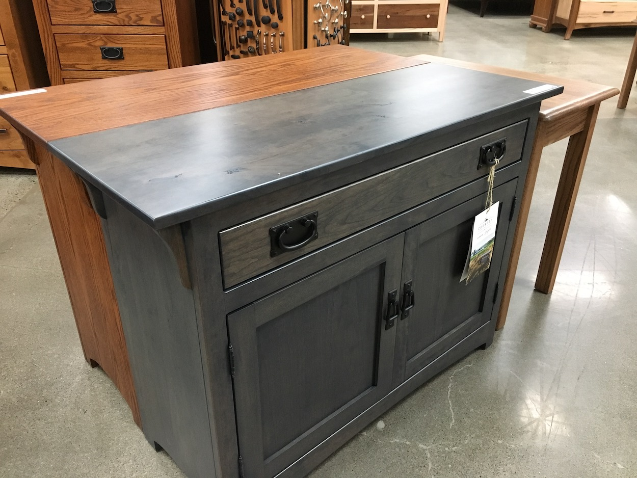 Grey Amish Cherry Console
