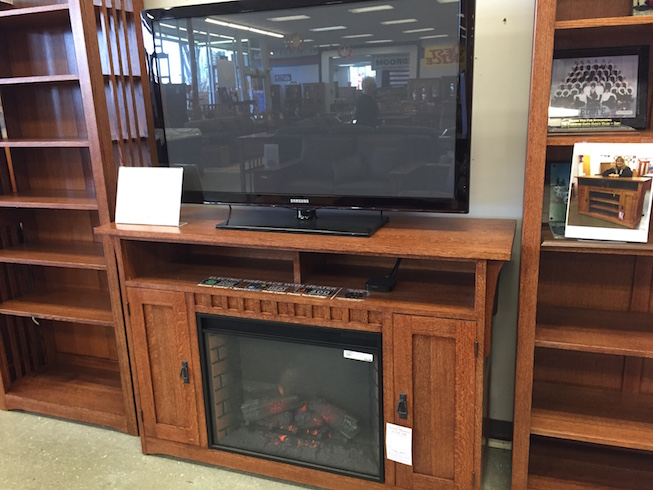 Mission TV Fireplace cart