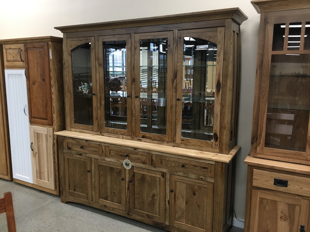Best Hickory hutches, rustic, mirrored china lighted soft close Amish traditions at your connection