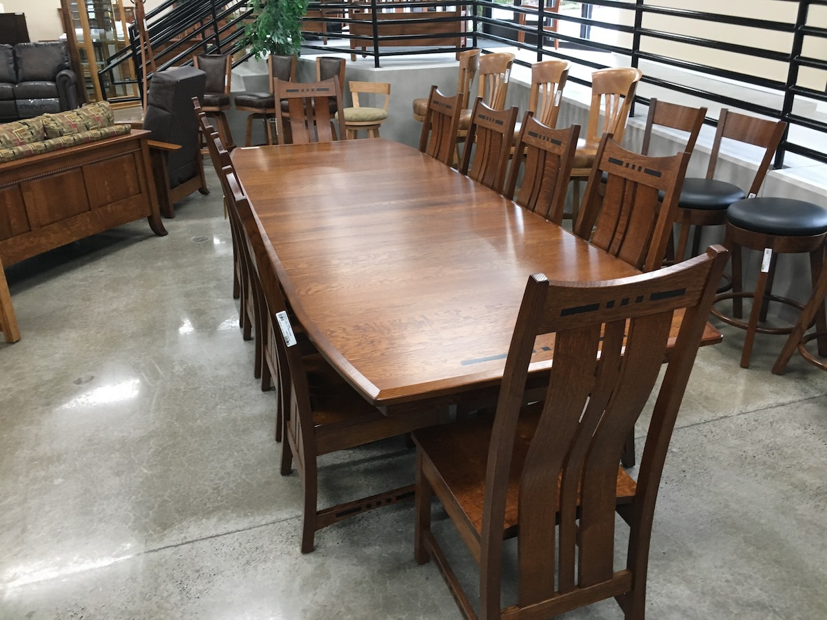 Amish hot selling Dining sets with ebony inlays