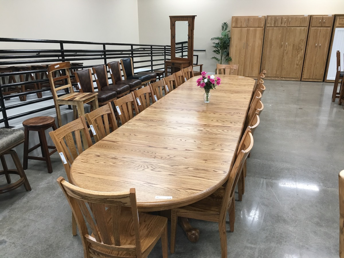 48 inch wide table with 12 leaves with seat 20 USA Made