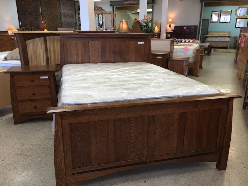 American Amish Build Bed Set Quarter Sawn