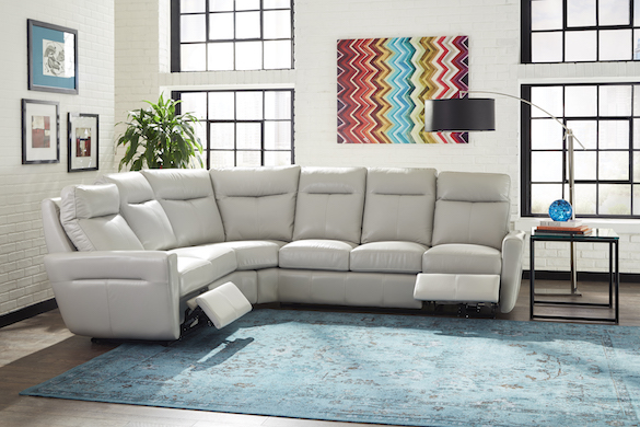 Omnia Leather Dealer USA Head and Power sectional furniture