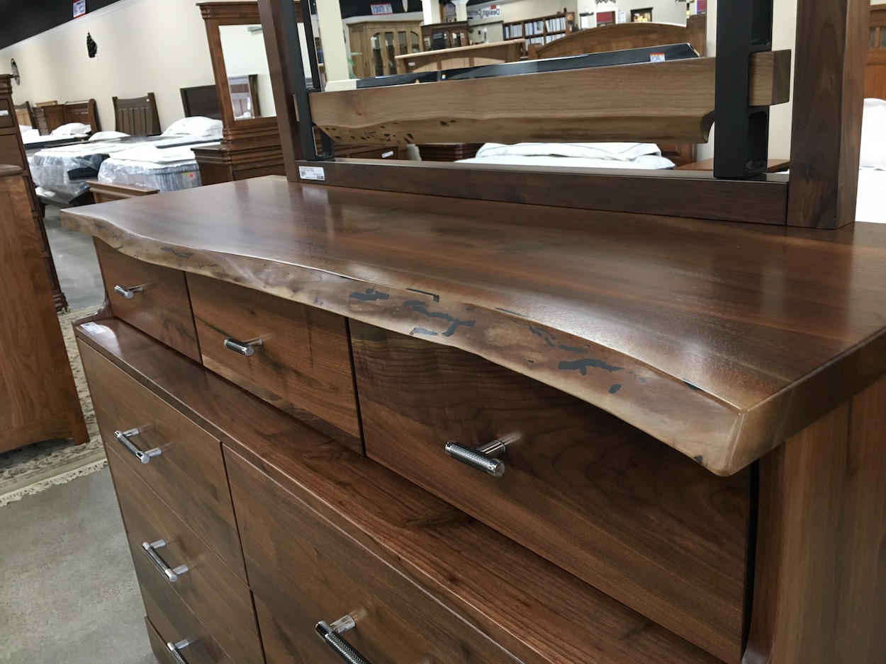Live Edge Dresser Amish sBedroom Walnut