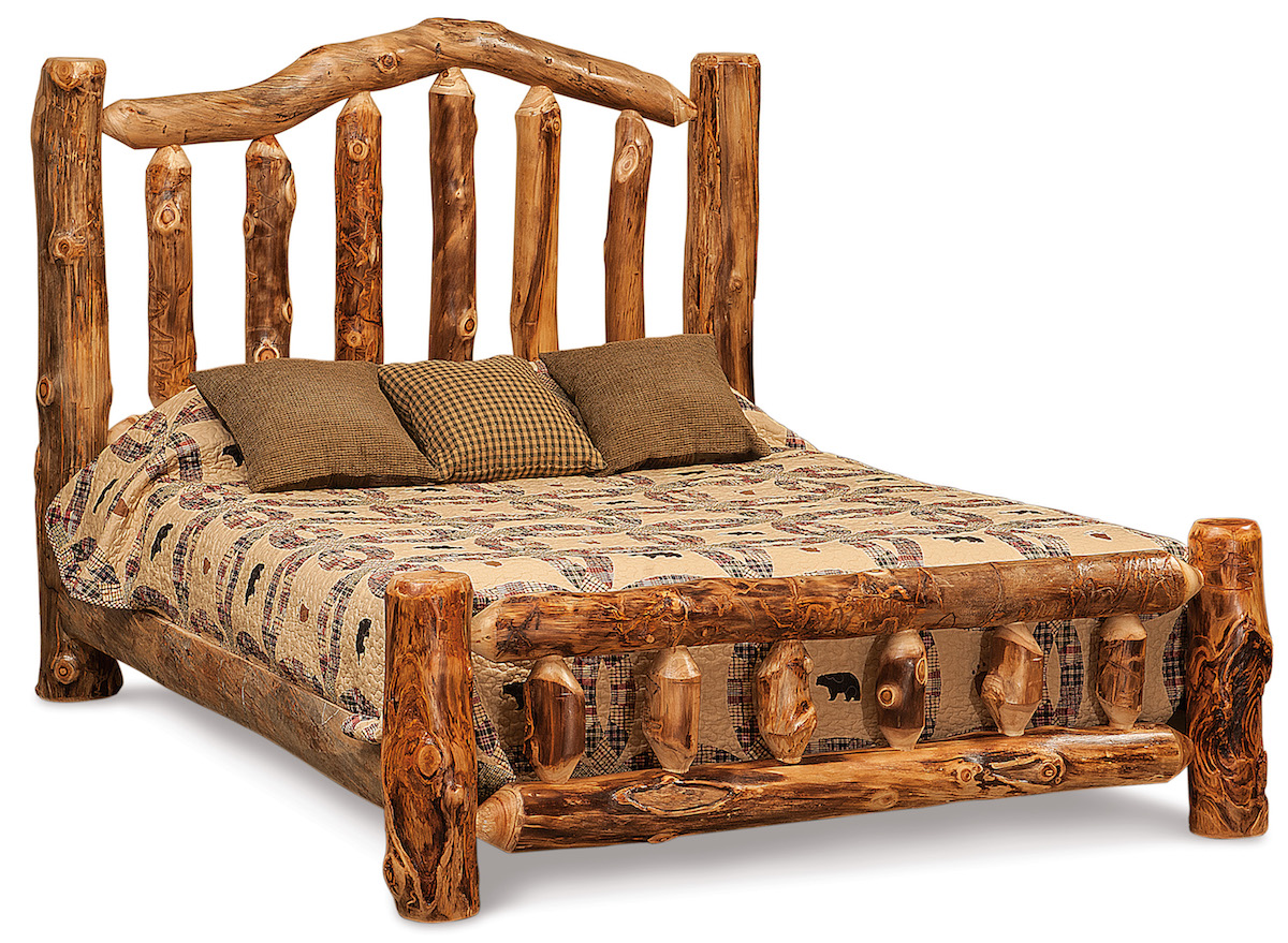 Queen Amish Rustic Bed