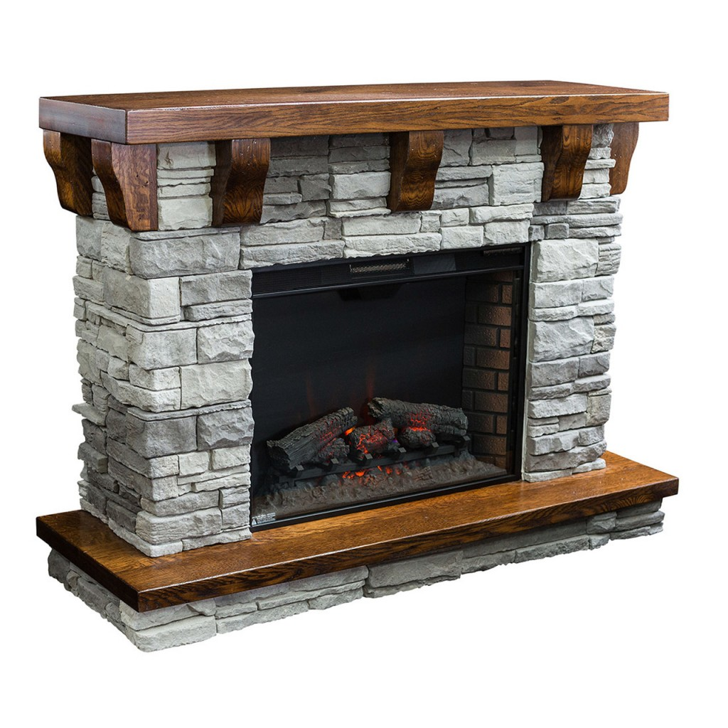 Amish Fireplace rock accent
