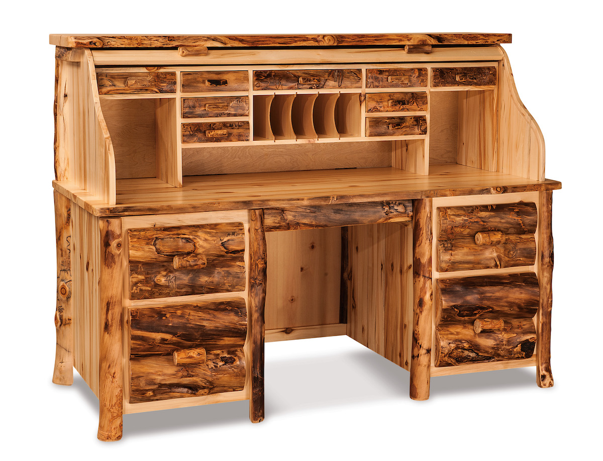 Amish Rustic Rolltop Desk