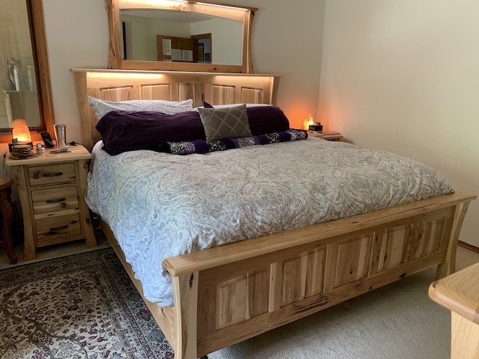 American made hickory custom bedroom