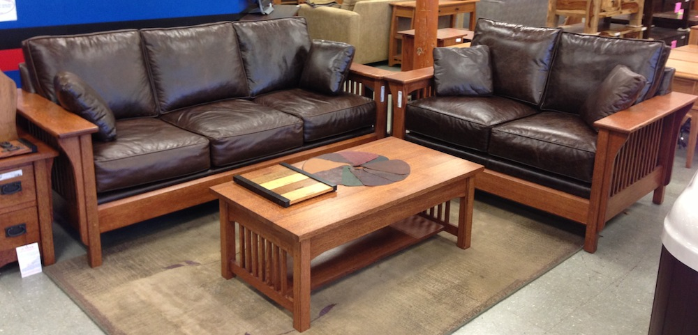 Sofa Leather Large - Portland - Oak Furniture WarehouseUSA ...