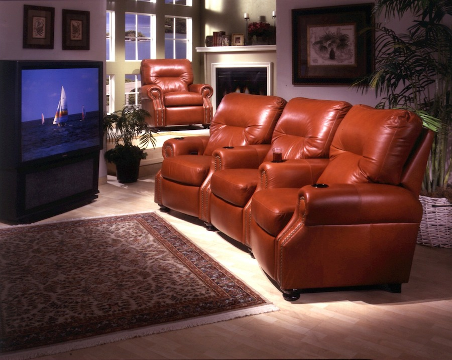 Theater Movie Seating American Made by Omnia Leather Dealer