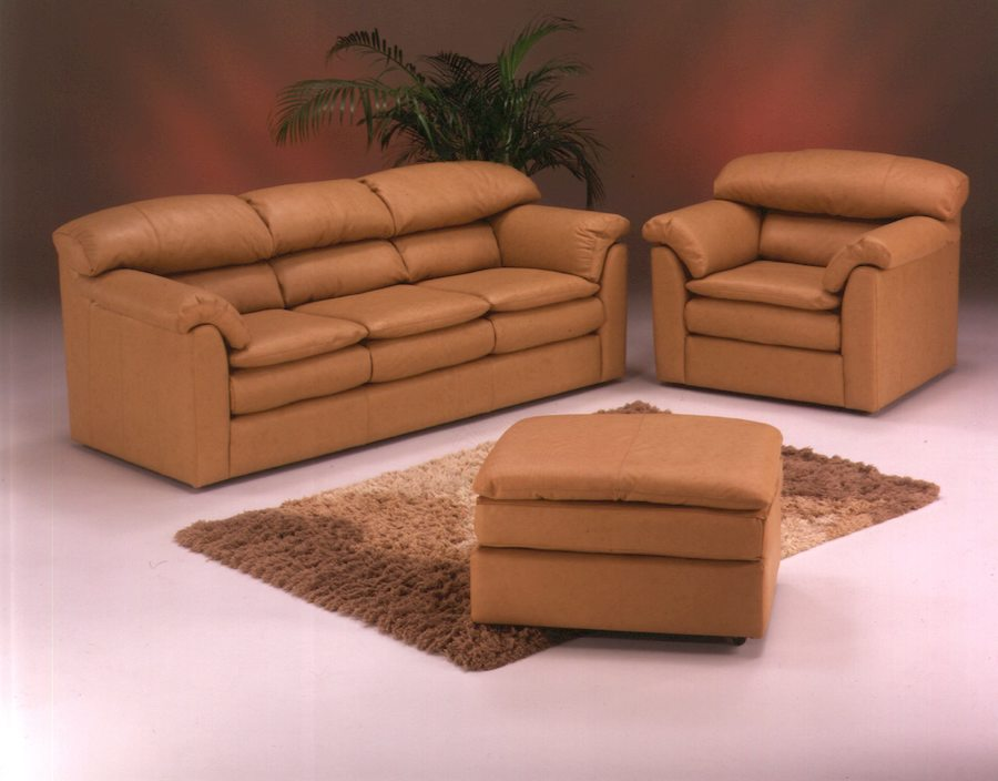 American Leather Pillow top sofa chair attoman Omnia Dealer